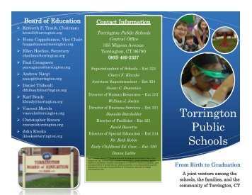 Birth to Graduation Information - Torrington Public Schools