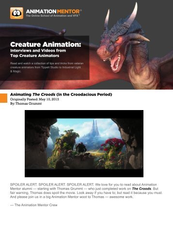 Creature Animation: