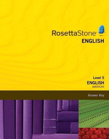 English (American) Level 5 - Answer Key
