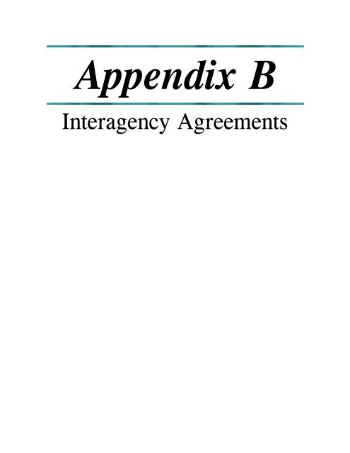 Appendix B Interagency Agreements