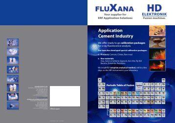 ELEKTRONIK Application Cement Industry - Fluxana