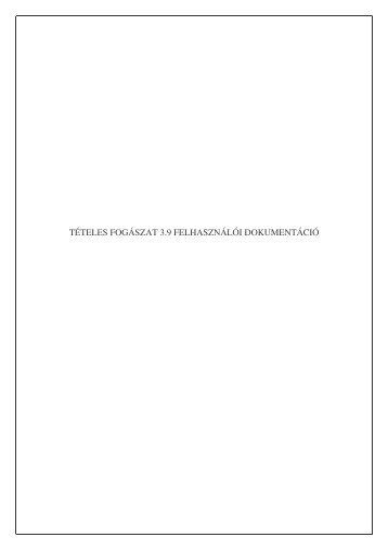 tételes fogászat 3.9 felhasználói dokumentáció - OEP-FIFO