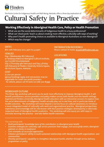 Cultural Safety in Practice - Australian Indigenous HealthInfoNet