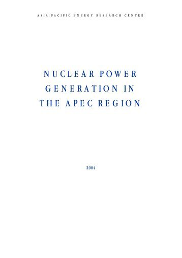Nuclear Power Generation in the APEC Region (2004