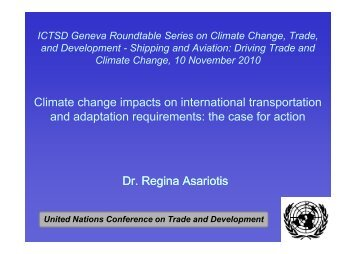 Climate change impacts on international transportation and - ICTSD