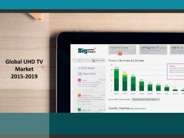 Global UHD TV Market 2015-2019: Key Vendor Analysis