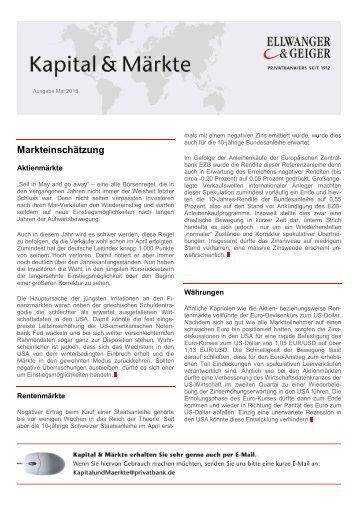 Kapital & Märkte, Ausgabe Mai 2015