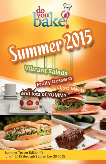 Do You Bake? Summer Products : 2015