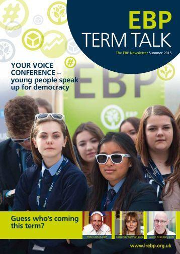 EBP TERM TALK Summer 2015