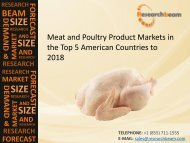 2018 Meat and Poultry Product Market Size, Trends, Trends, Key Industry, Forecasts in the Top 5 American Countries