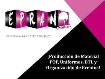 ¡Producción de Material POP, Uniformes, BTL y Organización de Eventos!