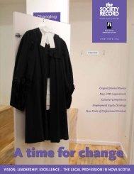 SR Vol 30 No 1, April 2012 - Nova Scotia Barristers' Society