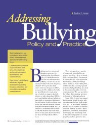 Addressing Bullying: Policy and Practice - National Association of ...