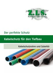 Kabelschutz für den Tiefbau Der perfekte Schutz - Z.I.S. Kunststoff ...