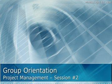 GO Project Management Presentation - Week 2
