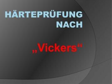 Härteprüfung nach Vickers