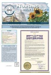 Kansas Nursing Newsletter - July 2015