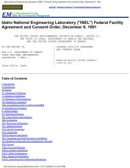 Federal Facility Agreement and Consent Order, December 9, 1991