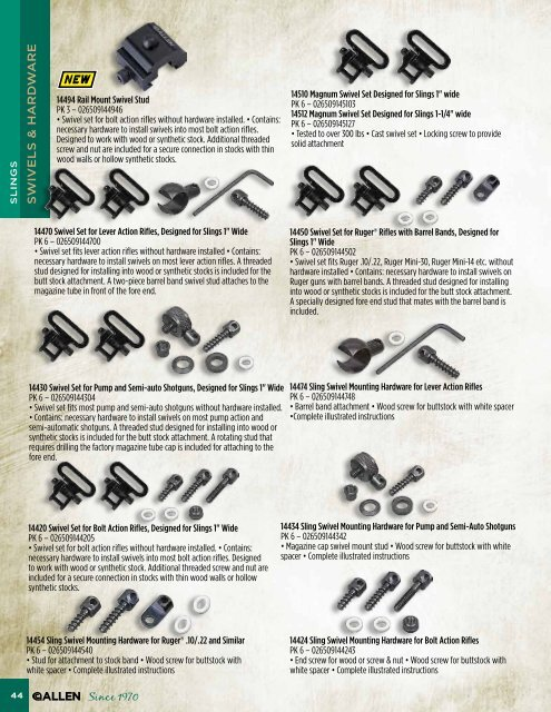 Allen Swivel  1/' W//Swivel 14510 Black magnum