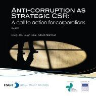 Anti-corruption as Strategic CSR: - Ethics Resource Center