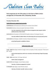 Final programme for the CCB seminar on the future of Baltic salmon ...