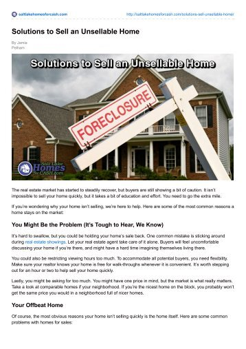 Solutions to Sell an Unsellable Home