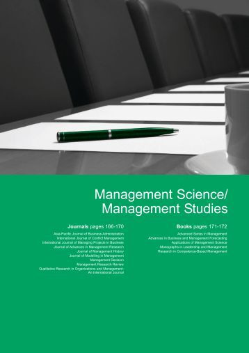 study assesement managerial science A management science course this paper describes one instructor's assessment of student writing on a final exam essay that required students to write about how management science procedures.