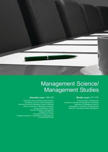 Management Science Management Studies
