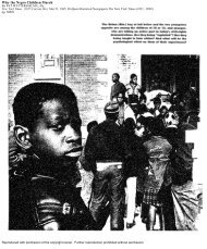 Why the Negro Children March