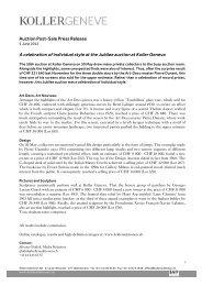 Post-Sale Press Release - Koller Auktionen