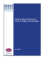 Guide to Sound Practices for Funds of Hedge Funds ... - Simplify LLC