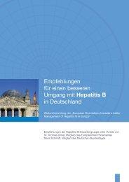 Empfehlungen für einen besseren Umgang mit Hepatitis B in ...