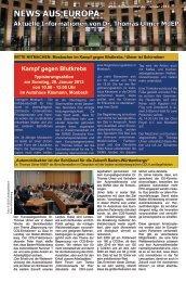 News aus Europa: 18.01.2013 - Dr. Thomas Ulmer MdEP