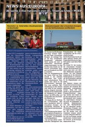 News aus Europa: 15. Juni 2012 - Dr. Thomas Ulmer MdEP