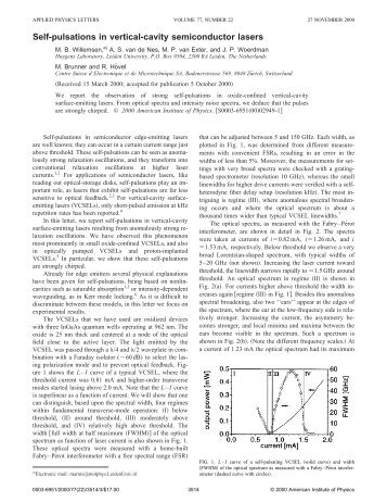 Self-pulsations in vertical-cavity semiconductor lasers