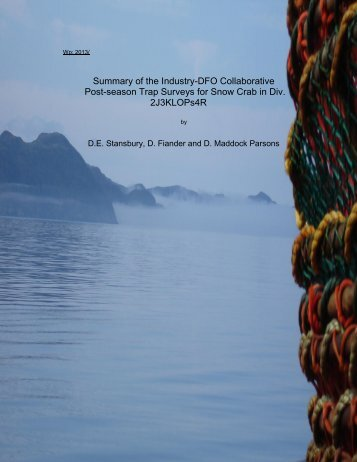 3K Snow Crab Survey Summary 2012 - FFAW