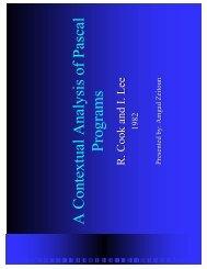 A Contextual Analysis of Pascal Programs