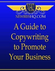 A guide to copywriting to promote your business - Free Books