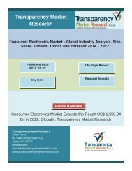 Consumer Electronics Market - Global Industry Analysis, Size, Share, Growth, Trends and Forecast 2014 - 2022
