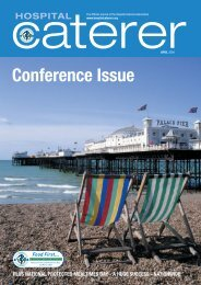 Conference Issue -  Hospital Caterers Association