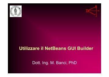 Utilizzare il NetBeans GUI Builder