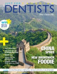 new CE to be placed - Just For Canadian Dentists Magazine