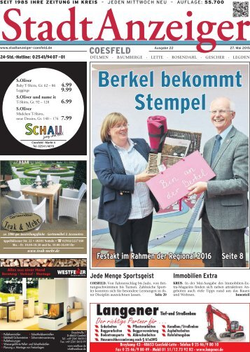 Stadt Anzeiger Coesfeld KW 22