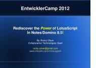 LotusScript - EntwicklerCamp