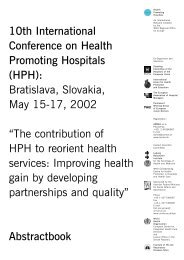 10th International Conference on Health Promoting Hospitals (HPH ...