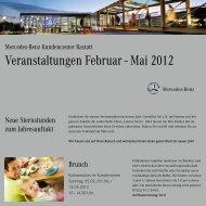 Veranstaltungen Februar – Mai 2012
