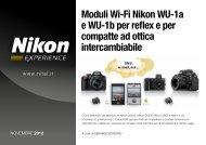 Moduli Wi-Fi Nikon WU-1a e WU-1b per reflex e per ... - Nital.it