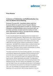 Press Release Customers of Volksbanken and ... - adesso Group