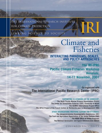 Report - International Pacific Research Center - University of Hawaii