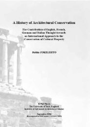 ICCROM - A History of Architectural Conservation